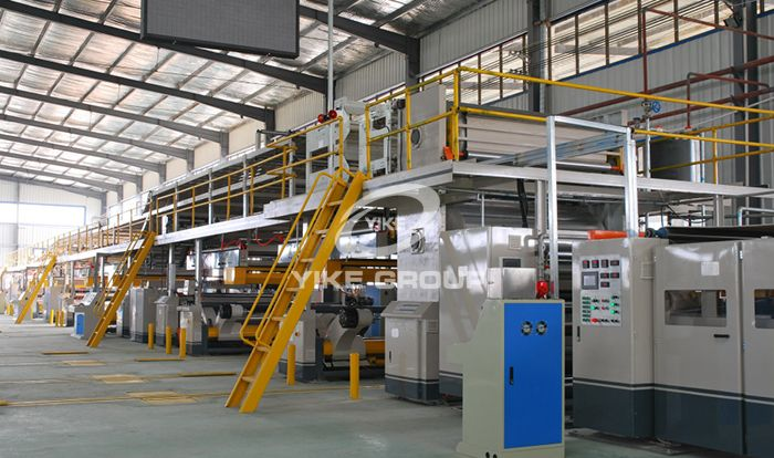 3 Ply Automatic Corrugated Cardboard Production Line