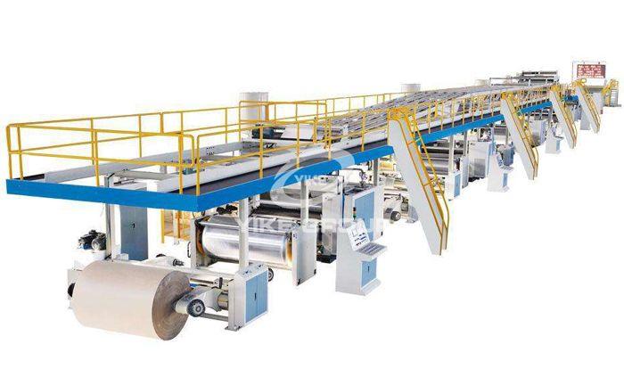 3-х слойная автоматическая линия по производству гофрированного картона